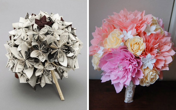 paper flower bouquets for weddings bridal bouquets the wedding world 6365