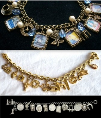1940's/World War II charm bracelets.