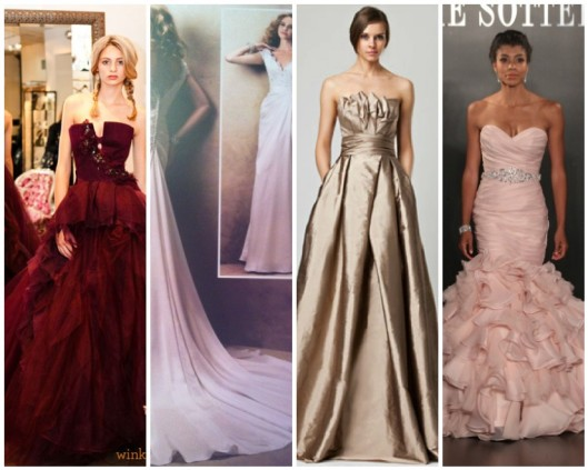 Spring 2013 bridal colours from Vera Wang,