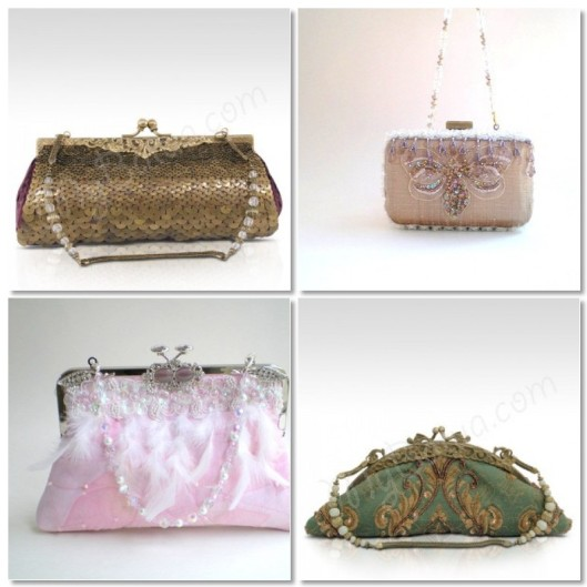 Fabulous evening/bridal handbags from Artfire and