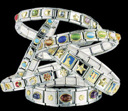 Italian charm bracelets have been the rage for over a decade. Photo source ~ bidorbuy.co.za