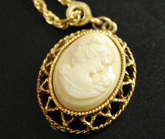 This is my Cameo, that my Great Aunt Velta gave me when i was thirteen.