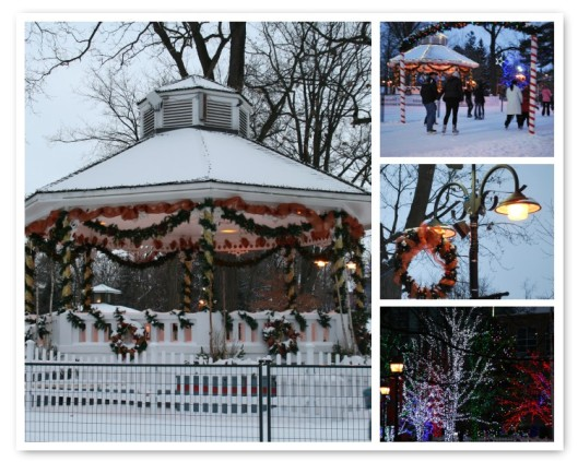 Gage Park skating trail in Brampton at dusk. Photos ~ Mike Heinhold/Jordin Jaunzarins