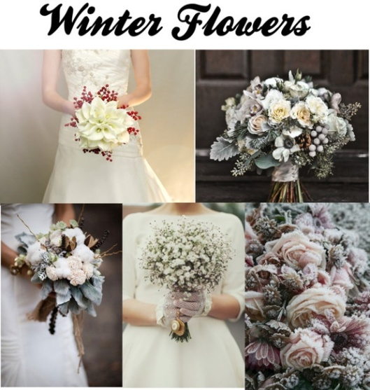 Dramatic winter bouquets.