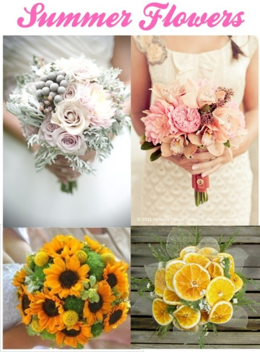 Gorgeous summer flower bouquets.