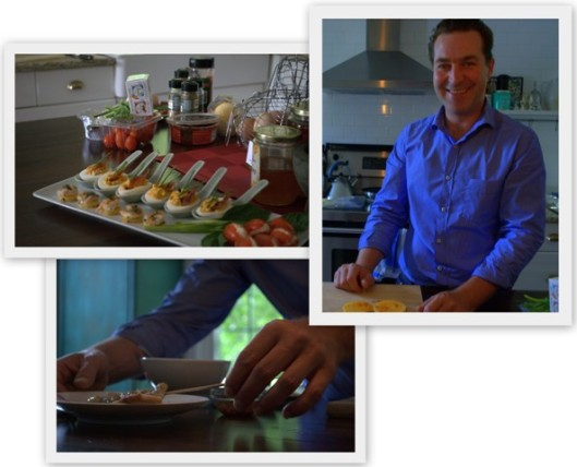 Chef Shawn in his kitchen in Jerseyville, Ontario.